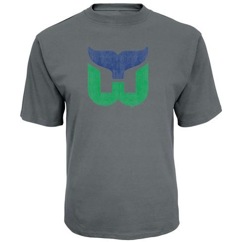 NHL Hartford Whalers Men s Back In Time Gray Vintage Logo T-Shirt ... c293e2c8c