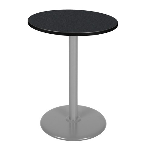 """30"""" Via Cafe High Round Platter Base Bar Height Table Carbon/Gray - Regency - image 1 of 3"""