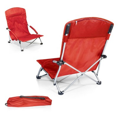 Picnic Time Tranquility Chair with Carrying Case - Red