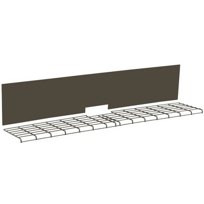 Suncast 30 Pound Capacity Backyard Oasis Outdoor Deck Box Shelf Accessory, Brown