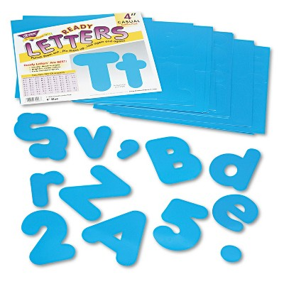 "Trend Ready Letters Casual Combo Set Blue 4""h 182/Set T79903"