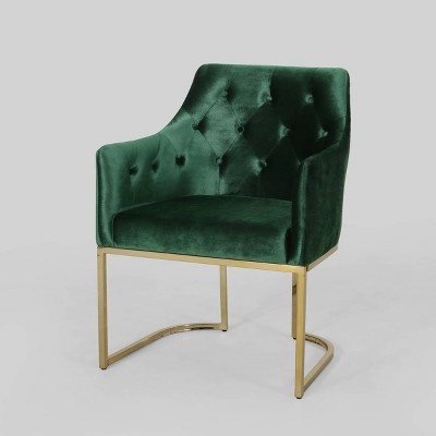 McDonough Modern Tufted Glam Accent Chair - Christopher Knight Home