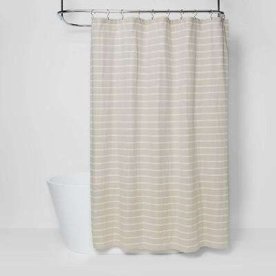 Stripe Shower Curtain Beige - Threshold™