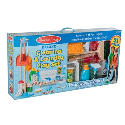 Melissa & Doug Deluxe Cleaning and Laundry Play Set - 21pc
