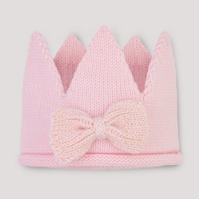 Baby Girls' Knit Crown - Cloud Island™ Pink