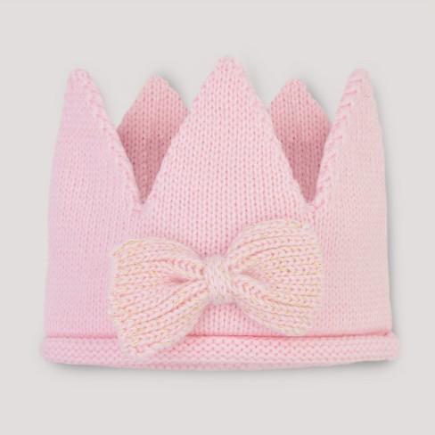 Baby Girls  Knit Crown - Cloud Island™ Pink   Target a659e747e51