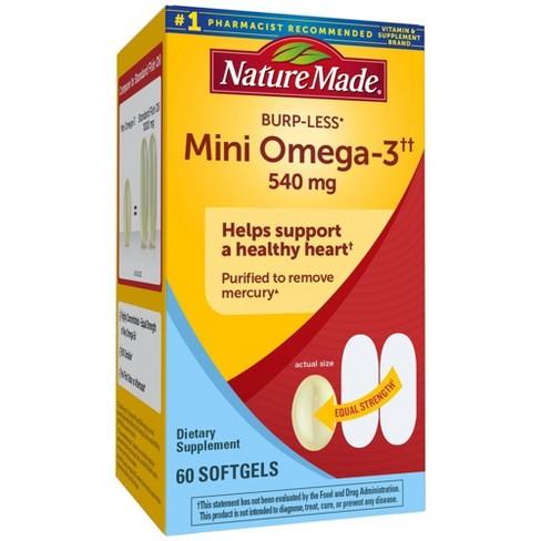 Nature Made Burpless Mini Omega - Full Strength Mini Softgels - 60ct - image 1 of 4