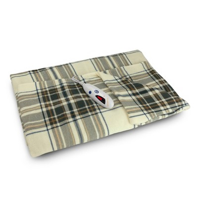"62"" x 50"" Microplush Electric Throw Blanket Plaid - Biddeford Blankets"
