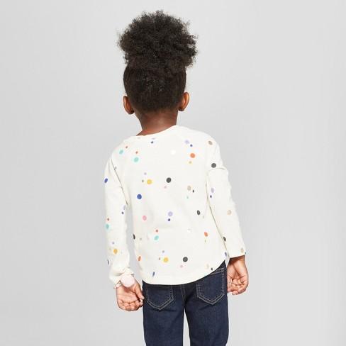 cf0d7a6f70 Toddler Girls  Polka Dot Long Sleeve Shirt - Cat   Jack™ Calla Lily 4T    Target