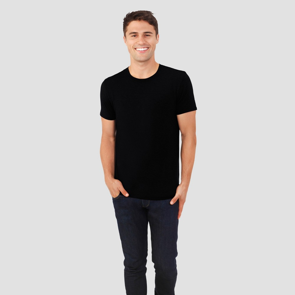 Fruit of the Loom Select Men's Everlight Short Sleeve T-Shirt - Black XL
