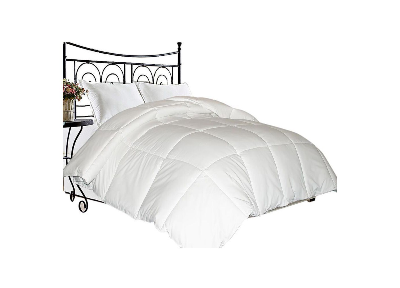 Microfiber Down Blend Comforter White - Blue Ridge Home Fashions - image 1 of 1