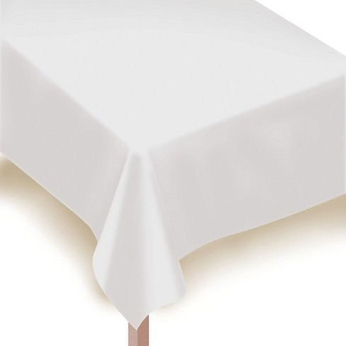 "54""x108"" 2ct Disposable Tablecover White - Spritz™ - image 1 of 1"