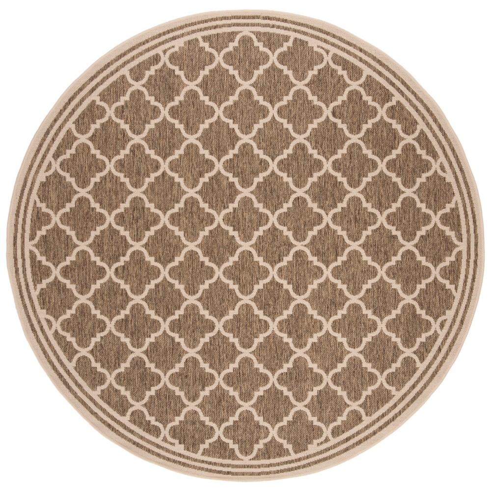 6'7 Quatrefoil Design Loomed Round Area Rug Beige/Cream (Beige/Ivory) - Safavieh