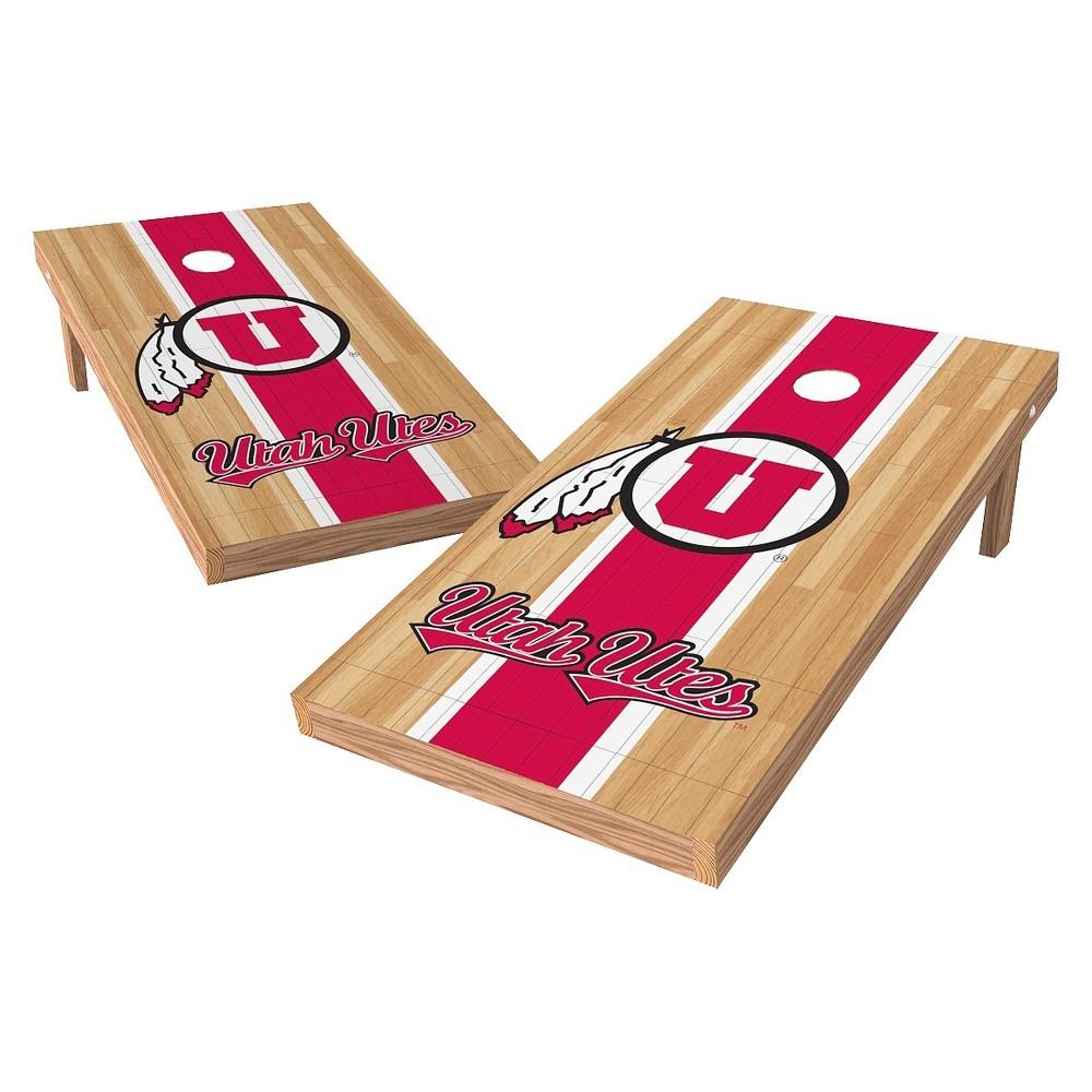 NCAA Wild Sports2' x 4' Heritage Design Authentic Cornhole Set Utah Utes
