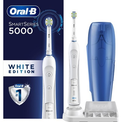Oral-B 5000 SmartSeries Electric Toothbrush White Powered by Braun
