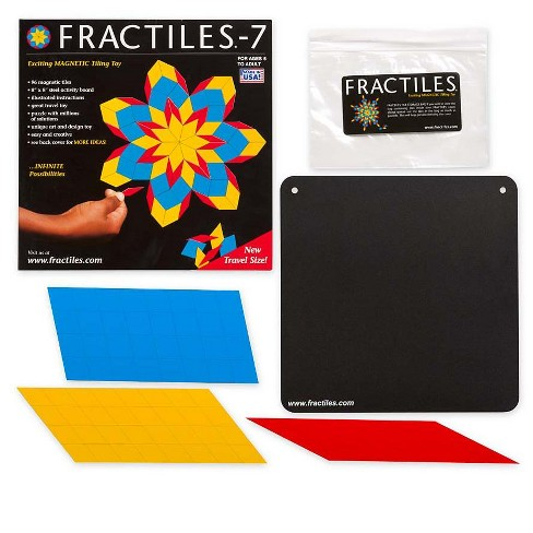 Travel-Size Magnetic Diamond-Shaped Fractiles/Tiles With Activity Board - Hearthsong - image 1 of 2
