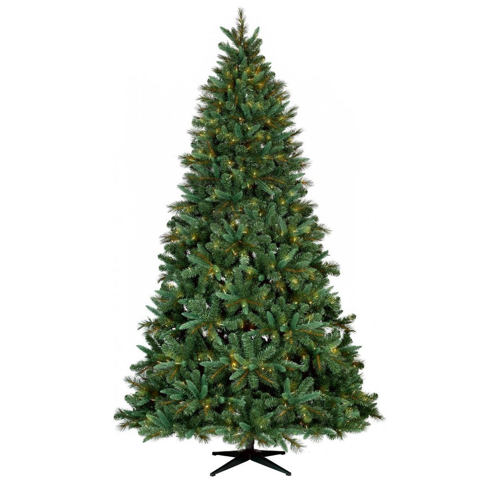 Image of Philips 9ft Pre-lit Full Artificial Christmas Tree Balsam Fir Auto Connect Clear Lights, Green