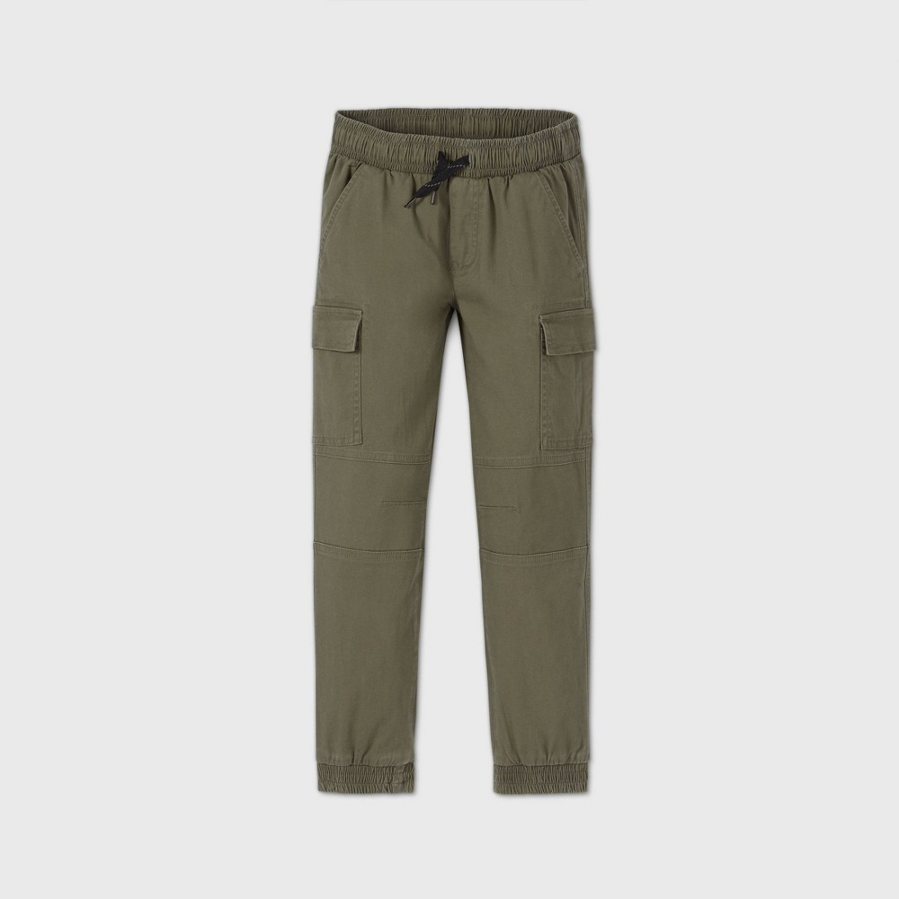 Boys 39 Pull On Cargo Jogger Pants Art Class 8482 Green 5