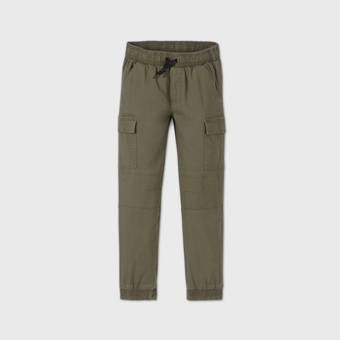 Boys' Pull-On Cargo Jogger Pants - art class™ Green - image 1 of 2
