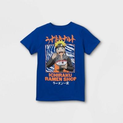Boys' Naruto Ichiraku Ramen Shop Short Sleeve T-Shirt - Blue
