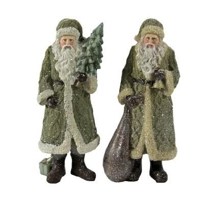 "Christmas 6.75"" Santa Set With Tree / Bag Woodland Bell  -  Decorative Figurines"