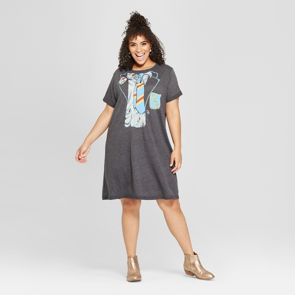 Junk Food Women's Plus Size AC/DC Short Sleeve Tie Graphic T-Shirt Dress - Black 2X, Size: Small was $26.0 now $7.8 (70.0% off)