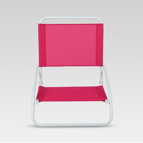 Outdoor Portable Beach Chair - Red - Evergreen - image 1 of 2