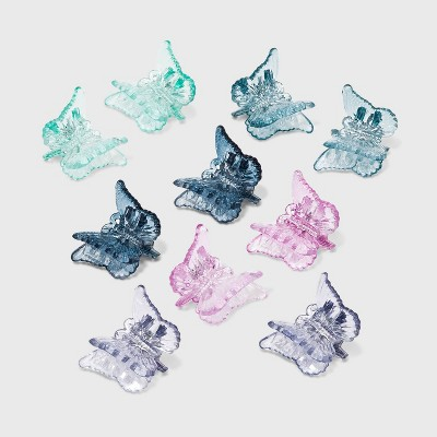 Butterfly Claw Hair Clips Set 10pc - Wild Fable™