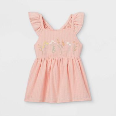 Toddler Girls' Embroidered Tank Top - art class™ Light Pink