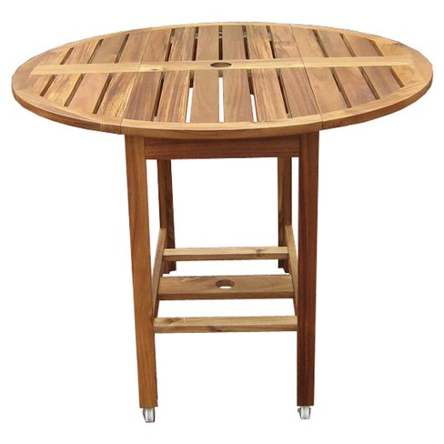 Acacia Folding Round Dining Table - Merry Products - image 1 of 6