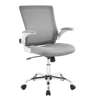 Works Creativity Mesh Office Chair with Chrome Base Gray - Serta