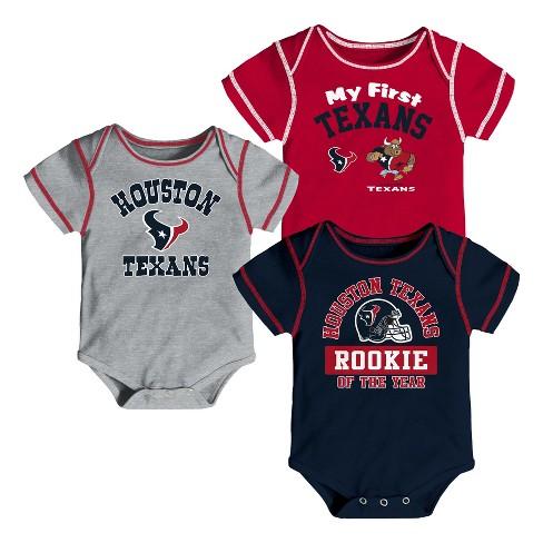 1dd255c5 Houston Texans Boys' Newest Fan 3pk Bodysuit Set 0-3 M