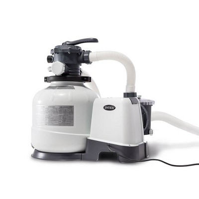 Intex 26647EG Krystal Clear 14-Inch 2800 GPH Above Ground Pool Sand Filter Pump with Automatic Timer, 110-120V with GFCI, and 6-Function Control