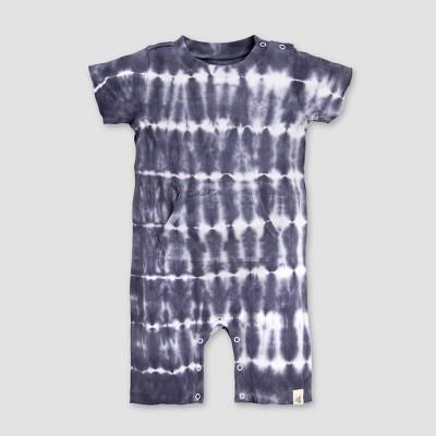 Burt's Bees Baby® Baby Boys' Tie Dye Pocket Shortalls - Blue/White 12M