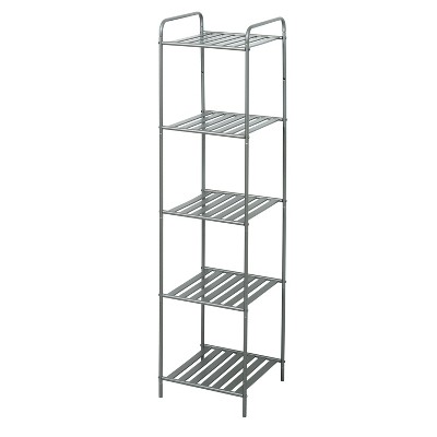 Slat Style Decorative Storage Shelf Brushed Nickel - Zenna Home