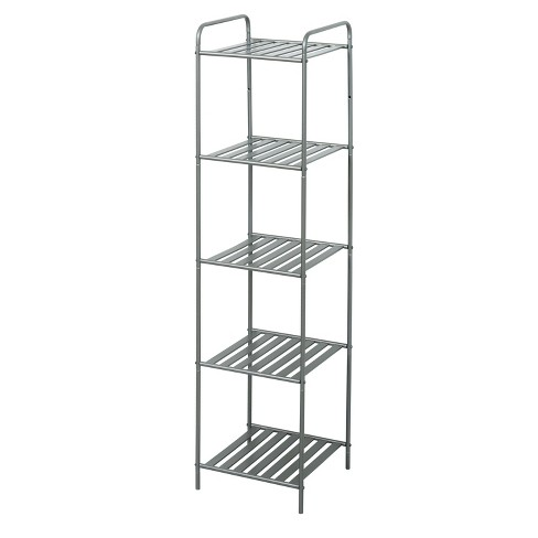 Slat Style Decorative Storage Shelf Brushed Nickel Zenna Home Target