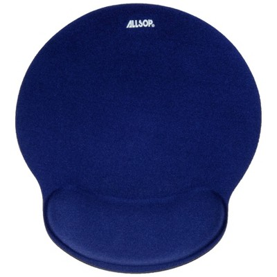 ALLSOP Mouse Pad with Wrist Rest - Navy
