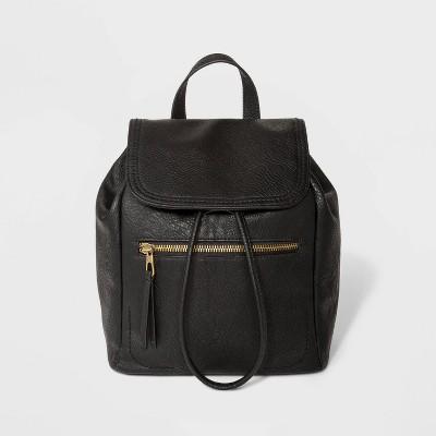 Mini Flap Backpack - Universal Thread™ Black