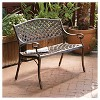 Cozumel Cast Aluminum Patio Bench - Antique Copper - Christopher Knight Home - image 2 of 4