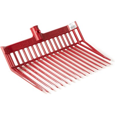Little Giant DuraFork Polycarbonate Attachable Pitchfork Replacement Head with Angled Tines, Red