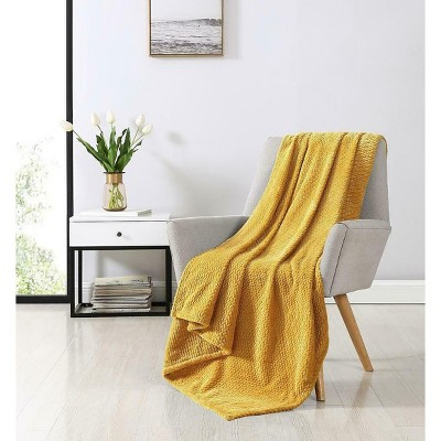 Kate Aurora Ultra Soft & Plush Herringbone Fleece Throw Blanket Covers