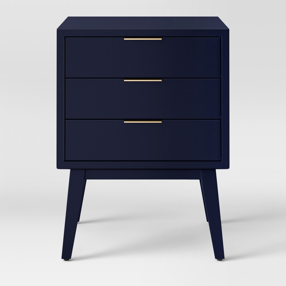 Hafley Three Drawer End Table Oxford Blue - Project 62