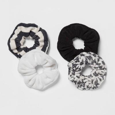 4pk Hair Drying Twisters Black/White - Room Essentials™