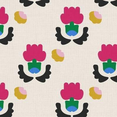 Global Floral Cream Ground