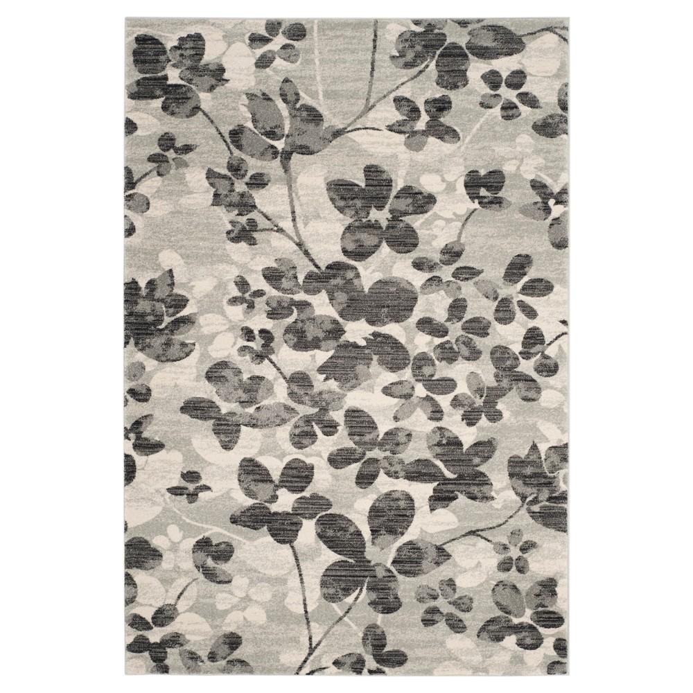 Evoke Rug - Grey/Black - (5'1