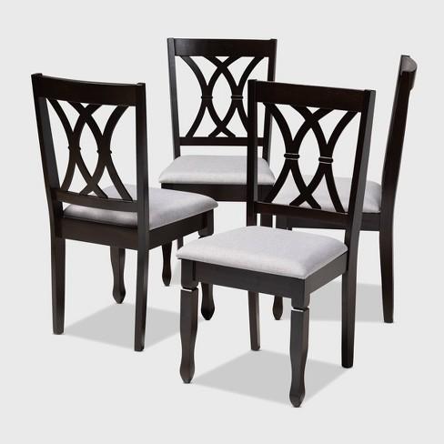 4pc Reneau Finished Wood Dining Chairs - Baxton Studio - image 1 of 7