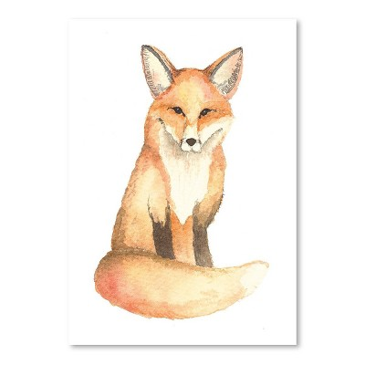 Americanflat Fox by Cami Monet Poster