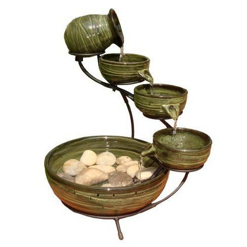 Smart Living Bamboo Leaf Solar Cascade Fountain - image 1 of 2