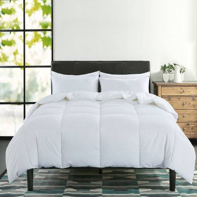 Queen 400 Thread Count Charcoal Infused Down Alternative Comforter White - St. James Home