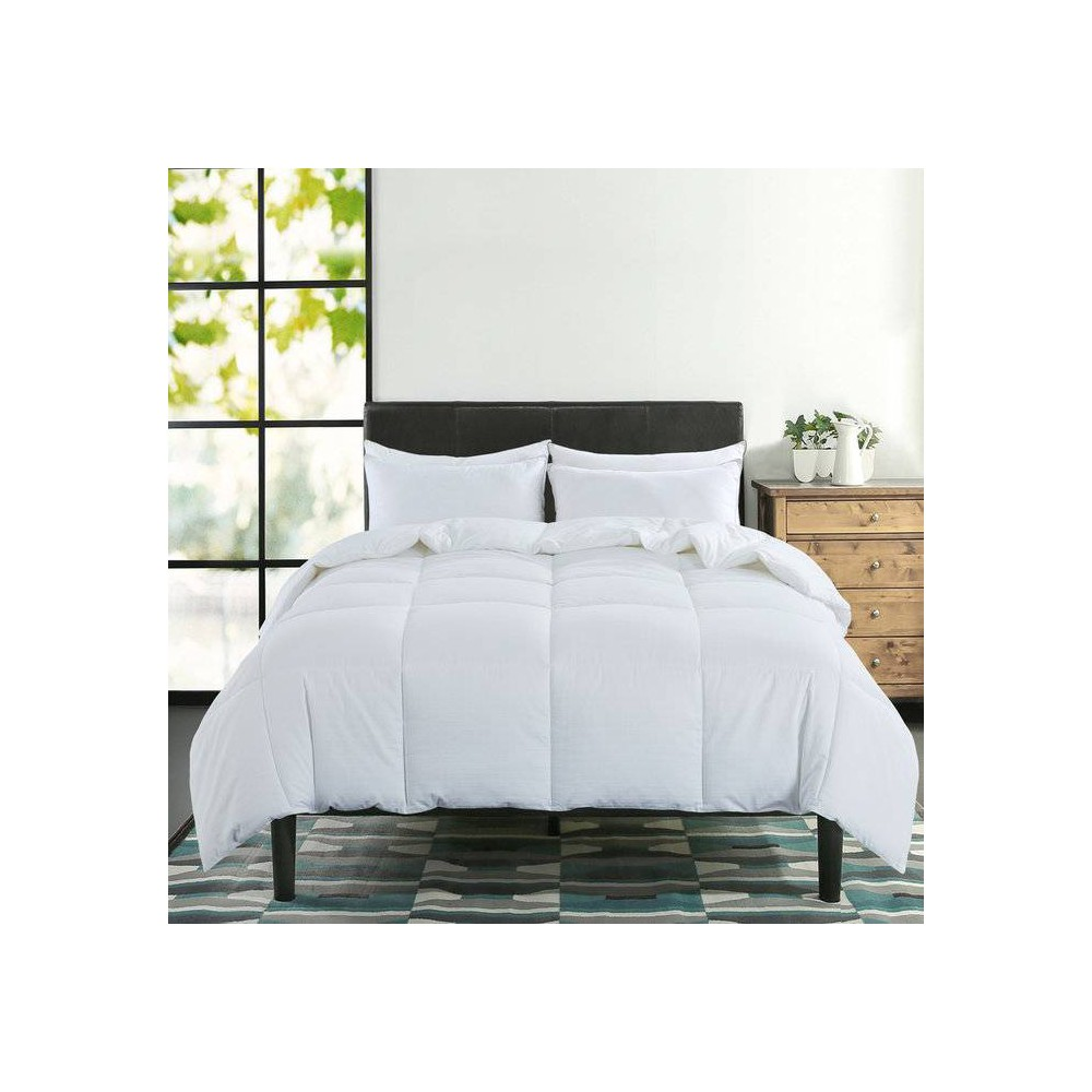 Image of King 400 Thread Count Charcoal Infused Down Alternative Comforter White - St. James Home